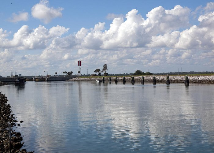 Florida Greeting Card featuring the photograph Cape Canaveral Locks In Florida by Allan Hughes