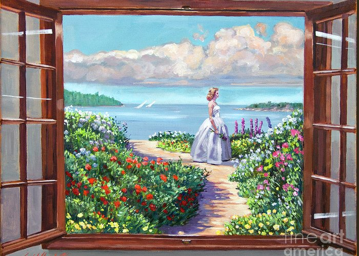 Fantasy Greeting Card featuring the painting Cape Cod Beauty by David Lloyd Glover