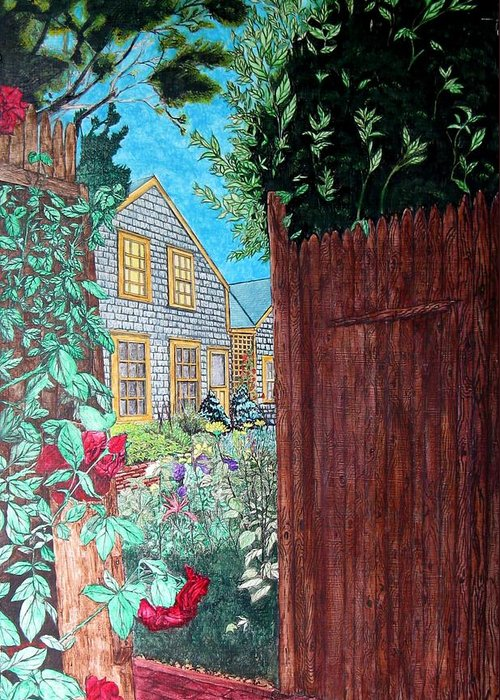 Cottage Greeting Card featuring the painting Cape Cod Cottage by Joshua Armstrong