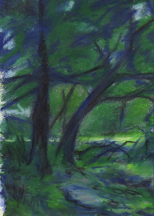 Landscape Greeting Card featuring the painting Cape Cod Tranquility by Todd Peterson