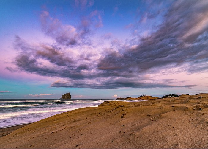 Oregon Greeting Card featuring the photograph Cape Kiwanda Sunrise by Jim Simmermon