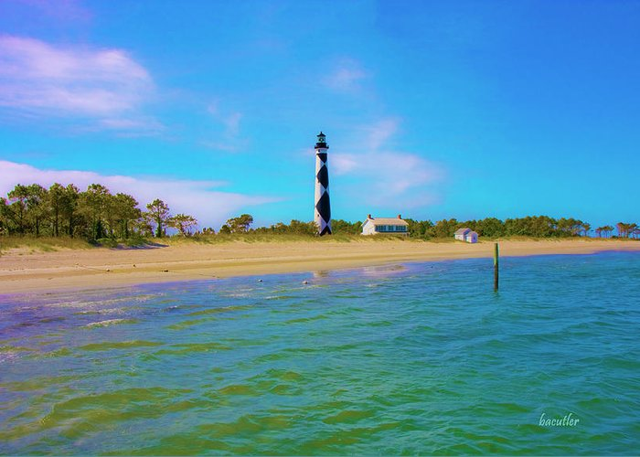 Harkers Island Greeting Card featuring the photograph Cape Lookout 1 by Betsy Knapp