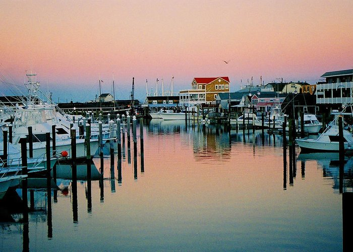 Cape May Greeting Card featuring the photograph Cape May After Glow by Steve Karol