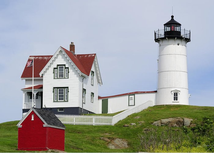 Cape Greeting Card featuring the photograph Cape Neddick Light by Luke Moore