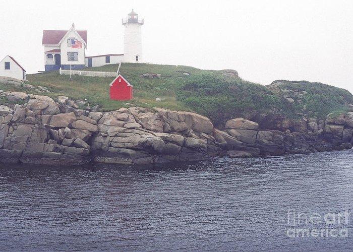 Cape Neddick Lighthouse Greeting Card featuring the photograph Cape Neddick Lighthouse by Thomas R Fletcher