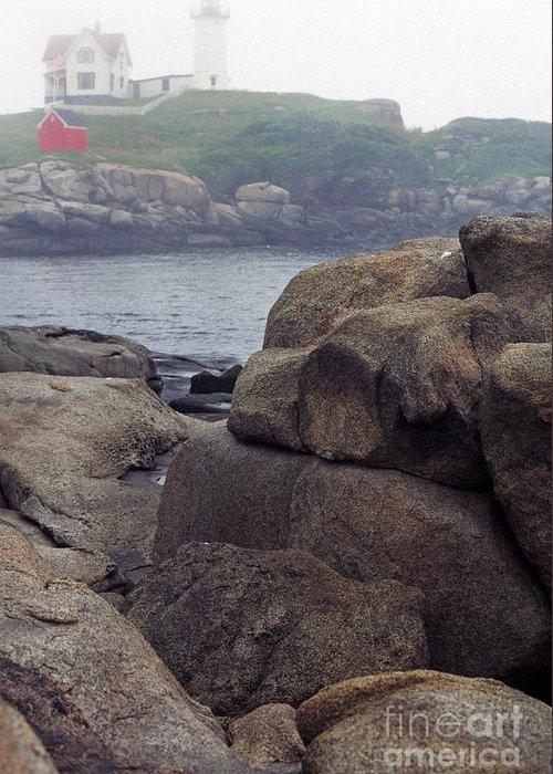 Cape Neddick Lighthouse Greeting Card featuring the photograph Cape Neddick Lighthouse York Maine by Thomas R Fletcher