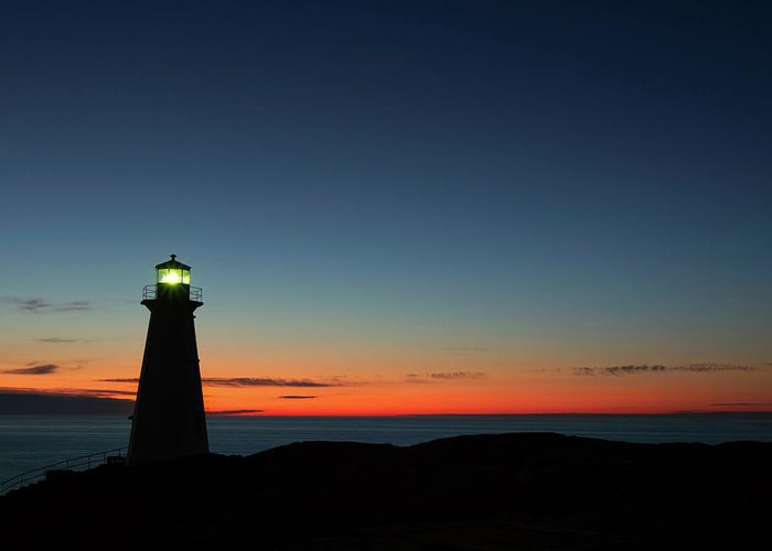Canada Greeting Card featuring the photograph Cape Spear Sunrise by Linda Cullivan