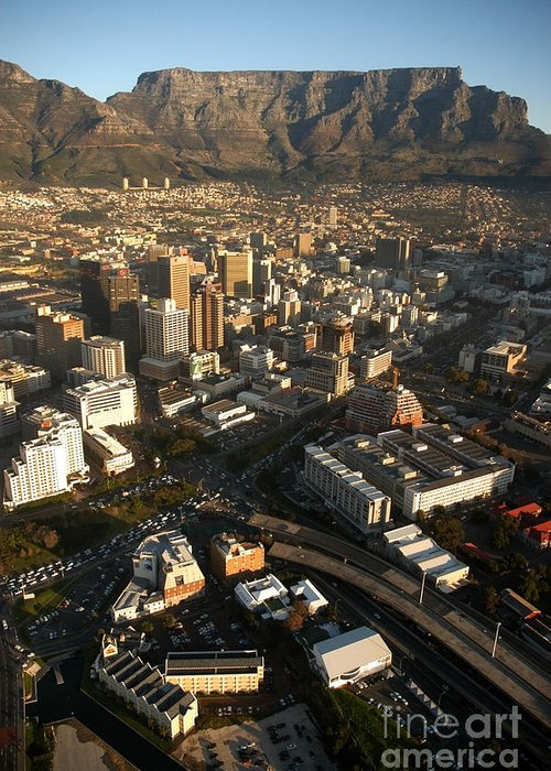 Cape Town Greeting Card featuring the photograph Cape Town From The Air by Andy Smy