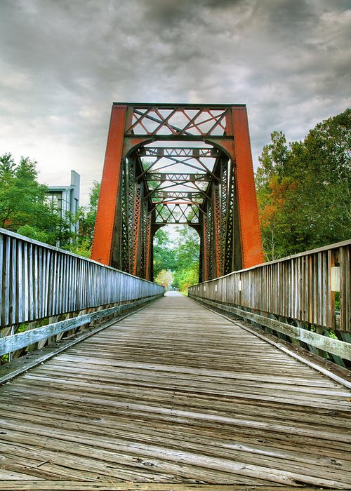 Trail Greeting Card featuring the photograph Caperton Trail And Bridge by Steven Ainsworth