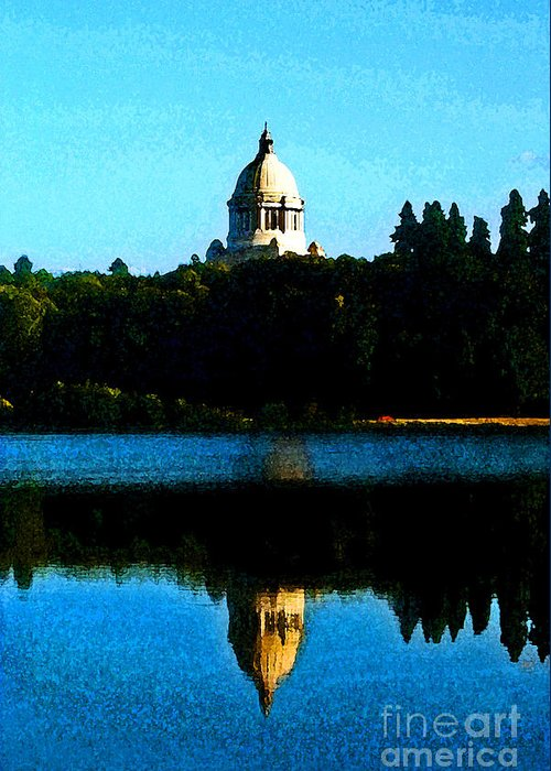 Lake Greeting Card featuring the photograph Capital Lake by Larry Keahey