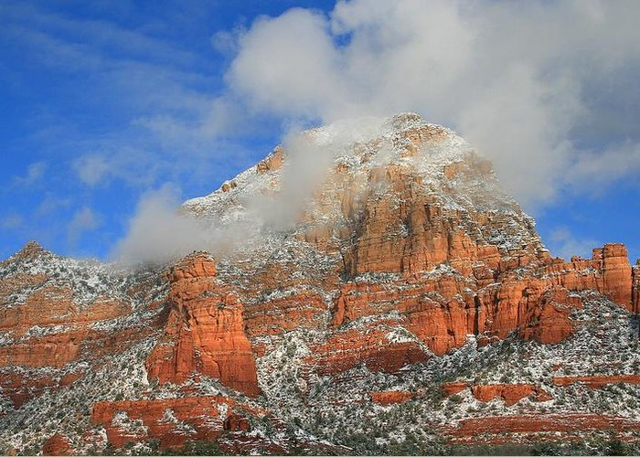 Sedona Greeting Card featuring the photograph Capitol Butte by Gary Kaylor