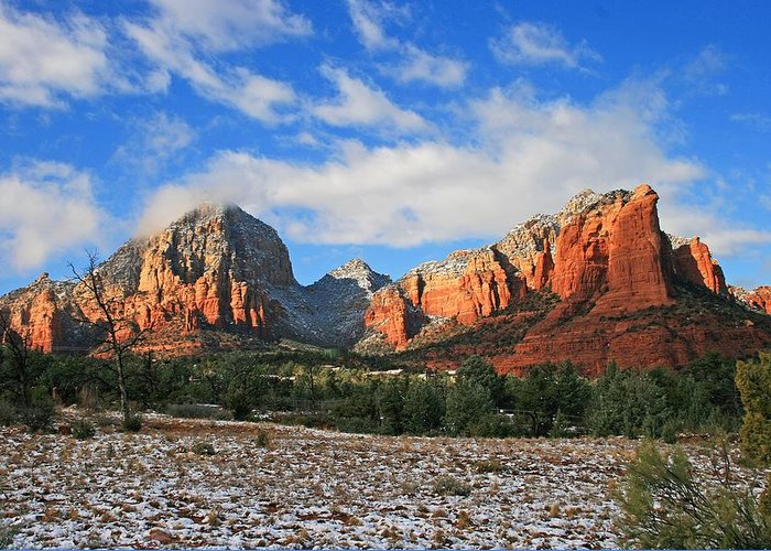 Sedona Greeting Card featuring the photograph Capitol To Coffeepot by Gary Kaylor