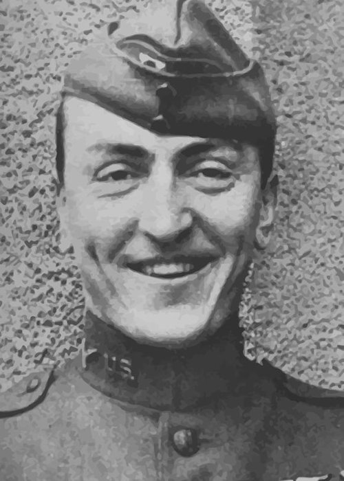 Eddie Rickenbacker Greeting Card featuring the painting Captain Eddie Rickenbacker by War Is Hell Store