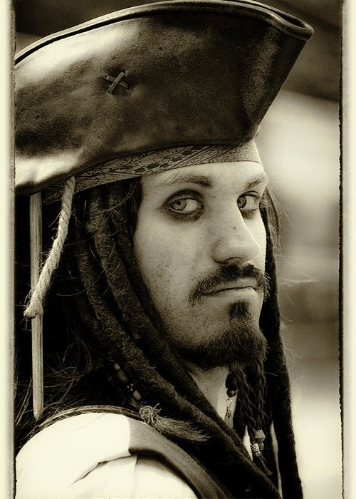 Pirate Greeting Card featuring the photograph Captain Jack Sparrow by David Patterson