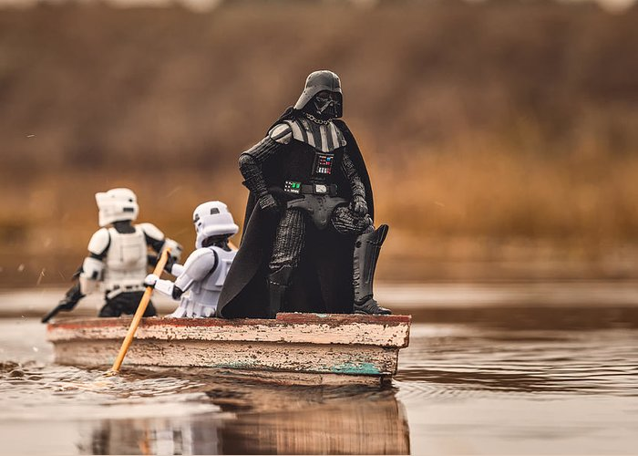 Staw Wars Greeting Card featuring the photograph Captain Vader by Matt Ferris
