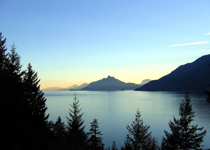 Howe Sound Greeting Card featuring the photograph Captivating Howe Sound by Will Borden