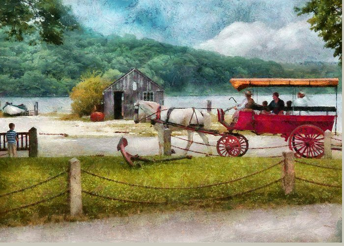 Hdr Greeting Card featuring the photograph Car - Wagon - Traveling In Style by Mike Savad