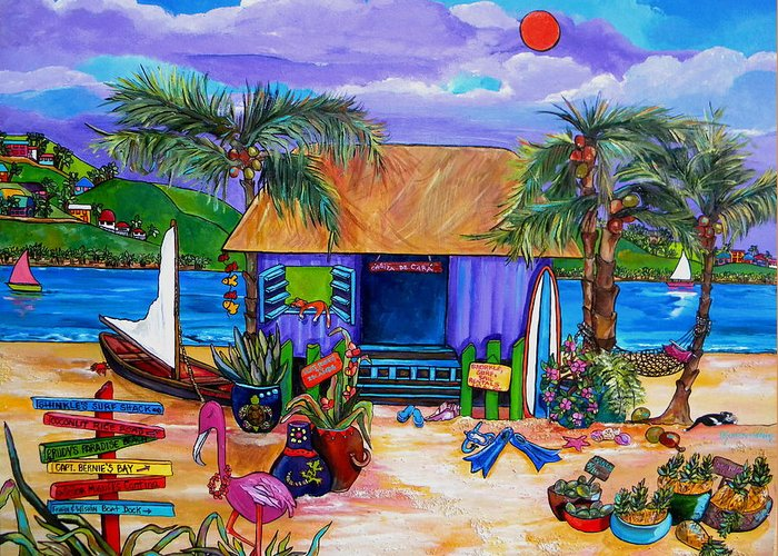 Island Greeting Card featuring the painting Cara's Island Time by Patti Schermerhorn