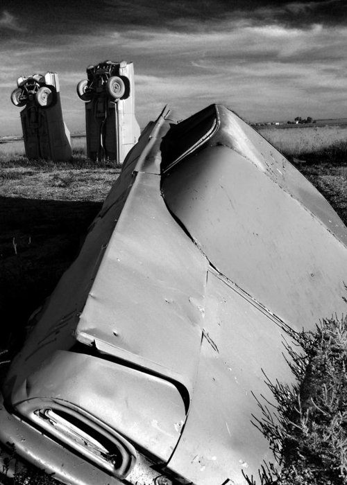 Carhenge Greeting Card featuring the photograph Carhenge by Todd Fox