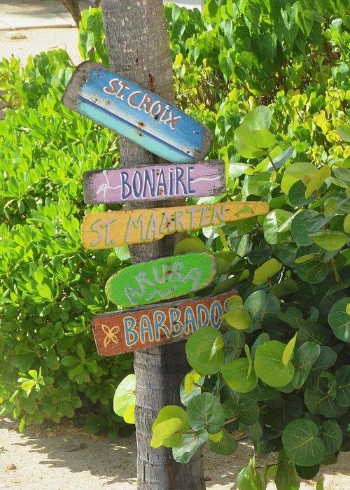 St. Croix Greeting Card featuring the photograph Caribbean Crossroads by Celeste Drewien