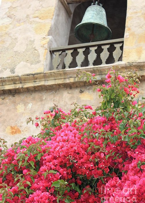Carmel-by-the-sea Greeting Card featuring the photograph Carmel Mission Bell by Carol Groenen
