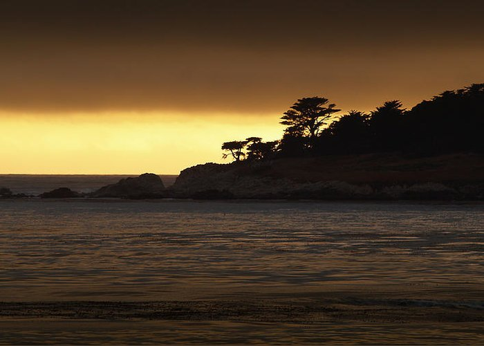 Sunset Greeting Card featuring the photograph Carmel Sunset by Cyril Matthews