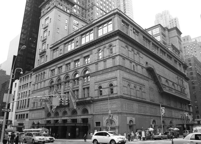 Carnegie Hall Greeting Card featuring the photograph Carnegie Hall by Christopher Kirby