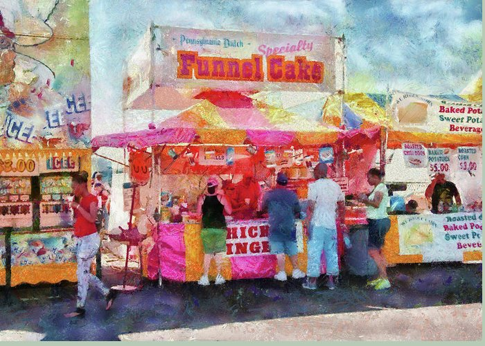 Suburbanscenes Greeting Card featuring the photograph Carnival - The Variety Is Endless by Mike Savad