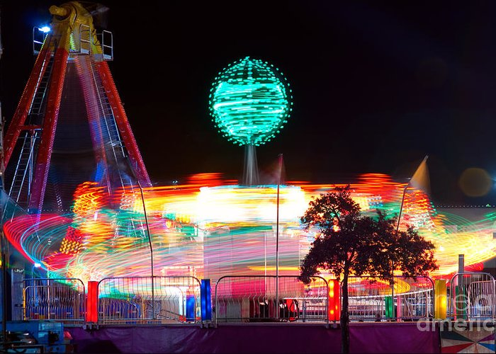 Greeting Card featuring the photograph Carnival Excitement by James BO Insogna