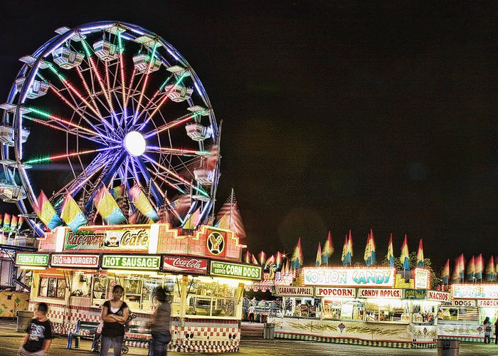 Carnival Images Greeting Card featuring the photograph carnival Fun and Food by James BO Insogna