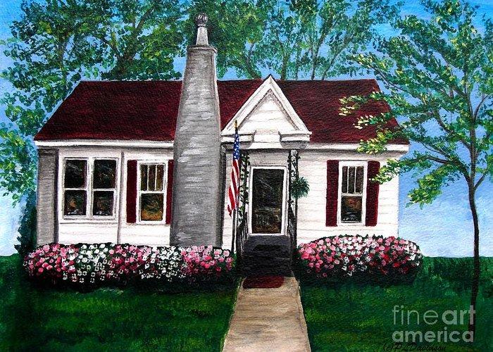 Carolina Greeting Card featuring the painting Carolina Home by Patricia L Davidson