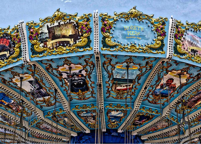 Rides Greeting Card featuring the photograph Carousel by Ronald Watkins
