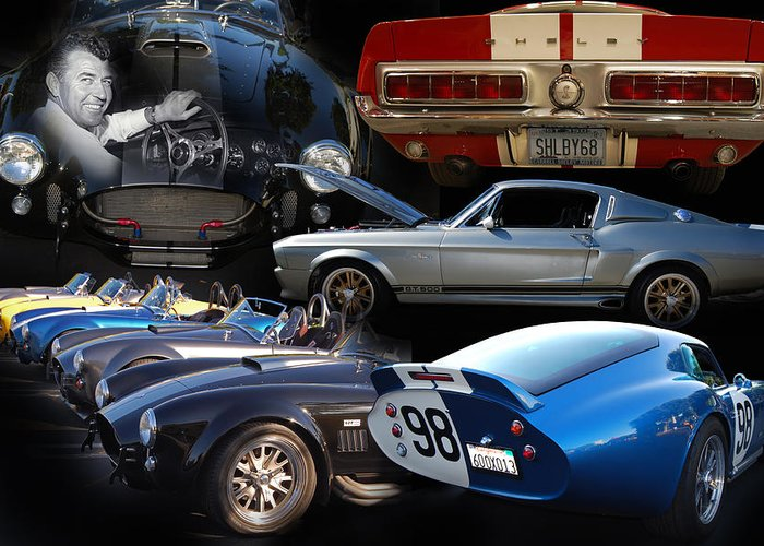 Automotive Fine Art Greeting Card featuring the photograph Carroll Shelby Tribute by Bill Dutting