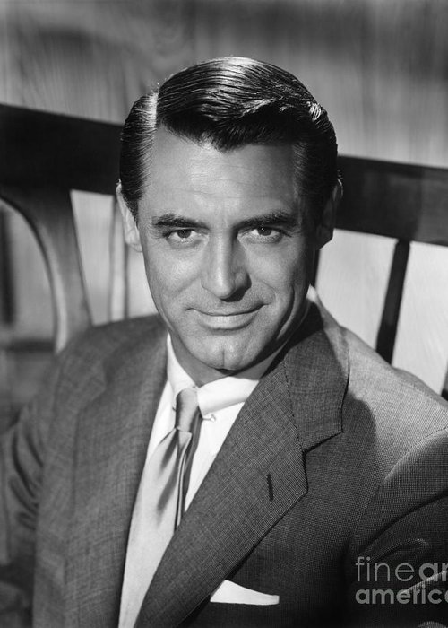 20th Century Greeting Card featuring the photograph Cary Grant (1904-1986) by Granger