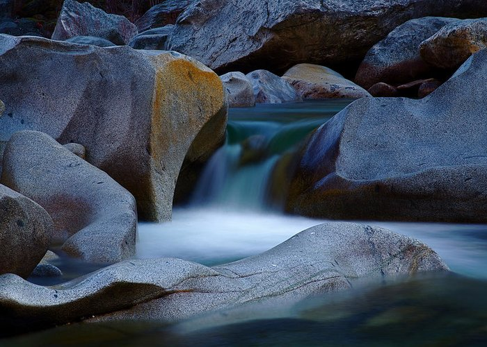 Yuba River Greeting Card featuring the photograph Cascade by John Daly