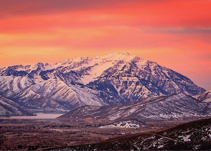 Cascade Ridge Greeting Card featuring the photograph Cascade Ridge Sunrise by Johnny Adolphson