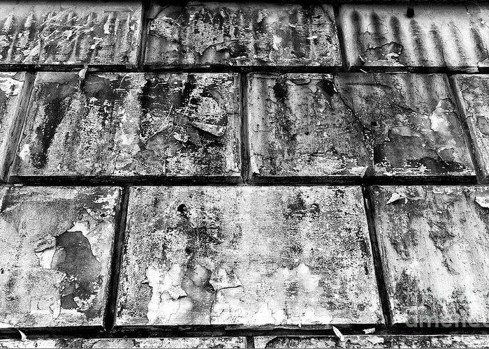 Casco Viejo Tiles Greeting Card featuring the photograph Casco Viejo Tiles Mono by John Rizzuto