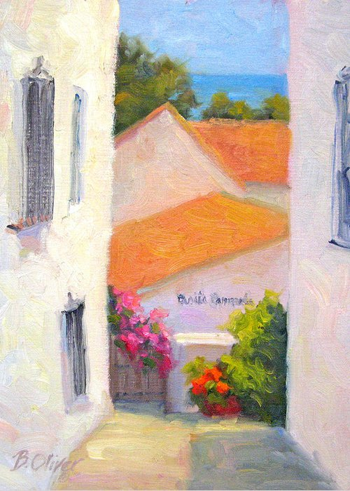 Spain Greeting Card featuring the painting Casita Carmela by Bunny Oliver