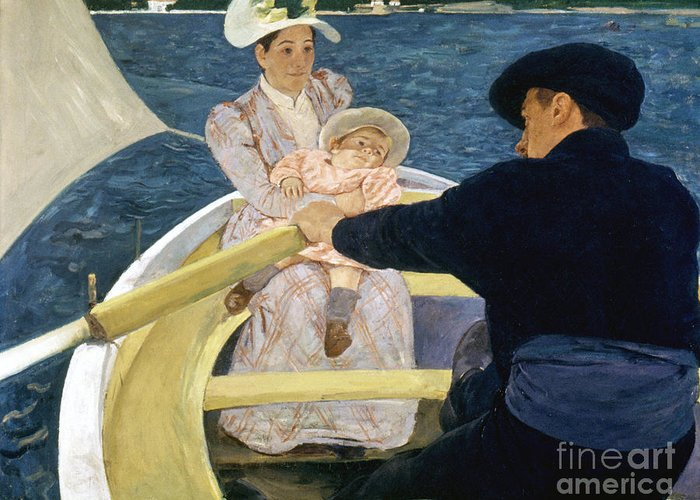 1893 Greeting Card featuring the photograph Cassatt: Boating, 1893-4 by Granger
