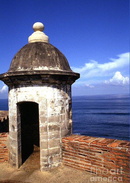 Puerto Rico Greeting Card featuring the photograph Castillo De San Cristobal by Thomas R Fletcher