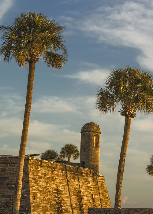 Joan Carroll Greeting Card featuring the photograph Castillo De San Marcos Dawn II by Joan Carroll