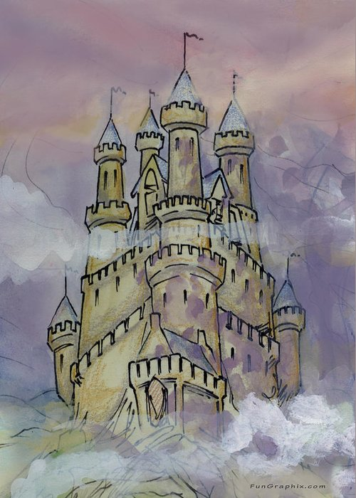 Castle Greeting Card featuring the greeting card Castle by Kevin Middleton
