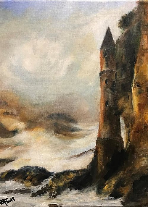 Castle Turret At Victoria Beach Laguna Painting By Terry Orletsky