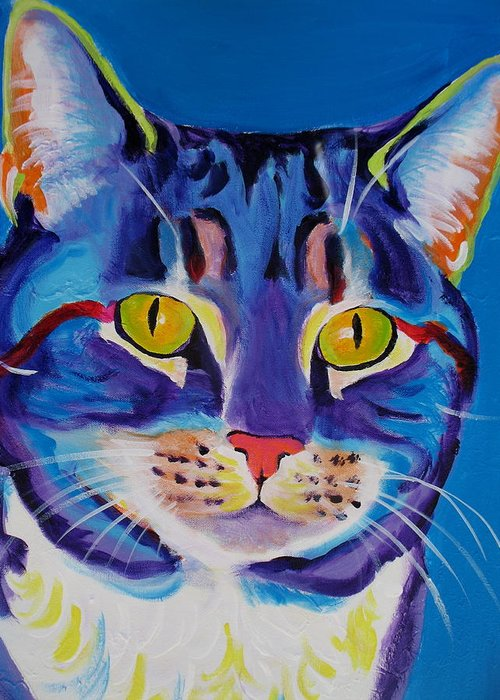 Cat Greeting Card featuring the painting Cat - Lady Spirit by Alicia VanNoy Call