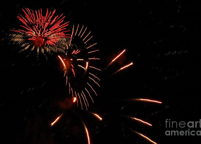 4th Of July Greeting Card featuring the photograph Cat Burst by Norman Andrus