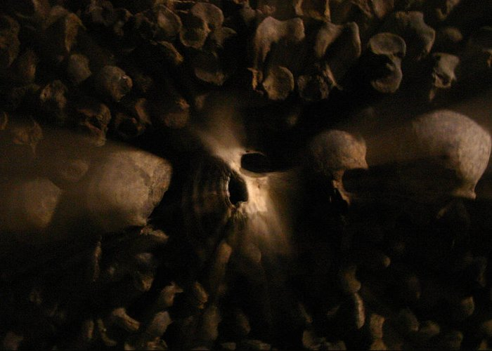 Greeting Card featuring the photograph Catacombs - Paria France 3 by Jennifer McDuffie