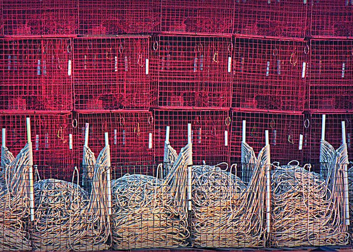 Crab Pots Greeting Card featuring the photograph Catch Anything by Sheryl Bergman