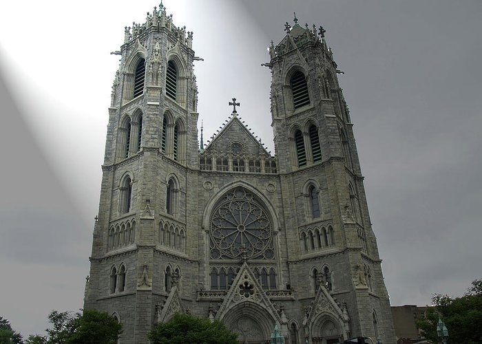 Church Greeting Card featuring the photograph Cathedral Basilica In Newark Nj by Frank Nicolato