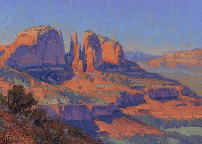 Red Rock Crossing Greeting Cards