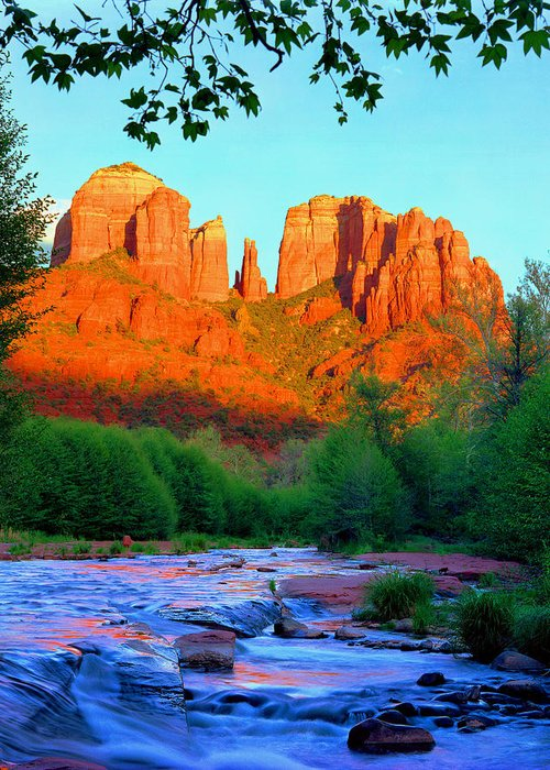 Sedona Greeting Card featuring the photograph Cathedral Rock by Frank Houck